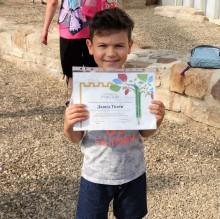 Давид Тотев на 7 г. от Варна бе най-малкият участник в конкурса за детска рисунка